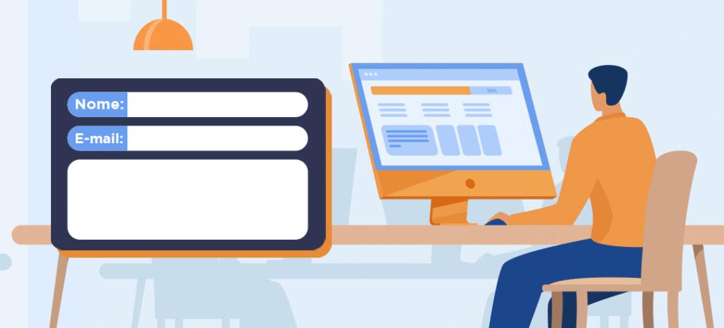 Site para empresas: formulários de cadastros