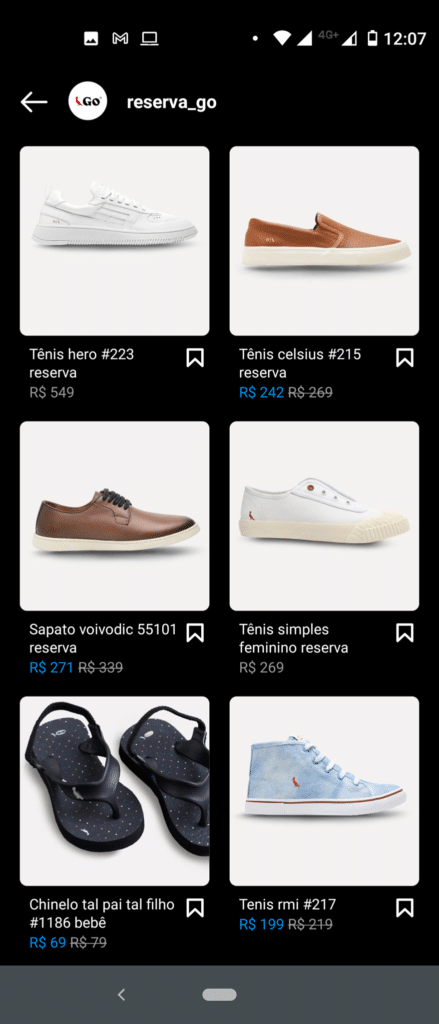 Site Instagram Shopping