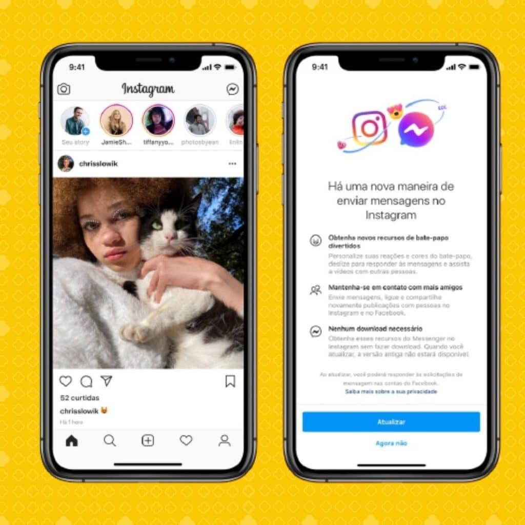 Integração Instagram e Messenger